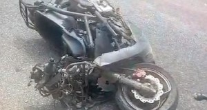Breaking: Okada rider leading Mahama's convoy crashes into coma.