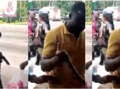 Two Sakawa Boys Fight Kasoa Women For Killing Their Money Making Python