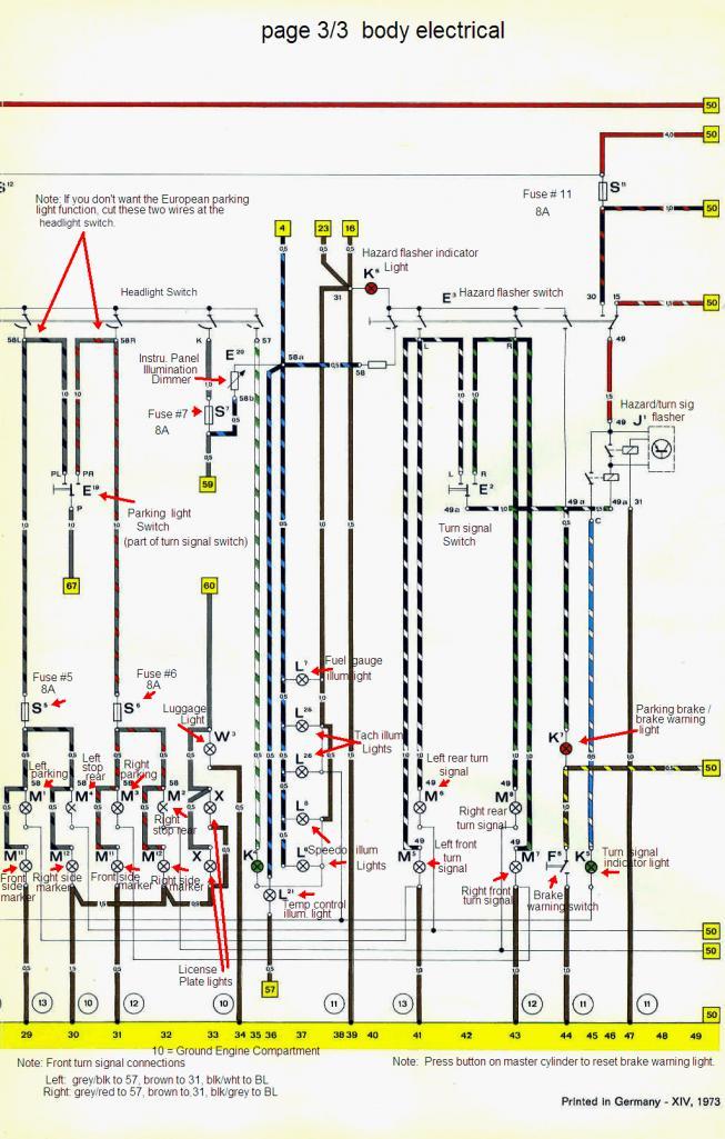 914world  1974 wiring/current flow diagram