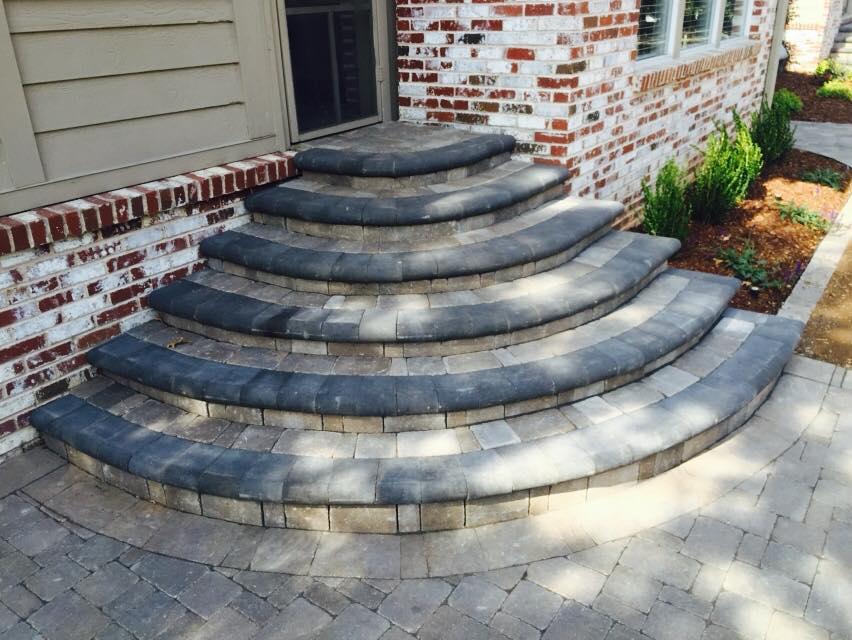 Paver Contractor (Patios, Walkways, Driveways) | 918 ... on Backyard Patio Steps id=25668