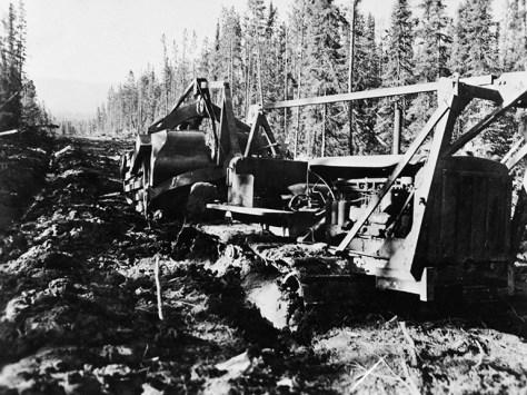 Bulldozing the road