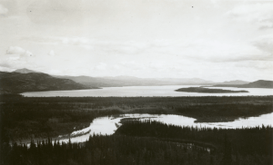 The PRA built the Alaska Highway south from Whitehorse along Marsh Lake while the black engineers of 93rd Second Battalion built 44 miles of highway north to McClintock River. 1942