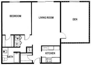 1 Bed / 1 Bath / 1,125 sq ft / Rent: Please Call