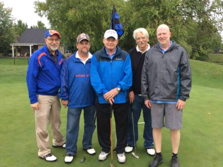 Jonathon Van Hoogen, Mike Beaudin, Skip Hall, Mark Renick, Doug Hardy - 2017 Golf Tournament