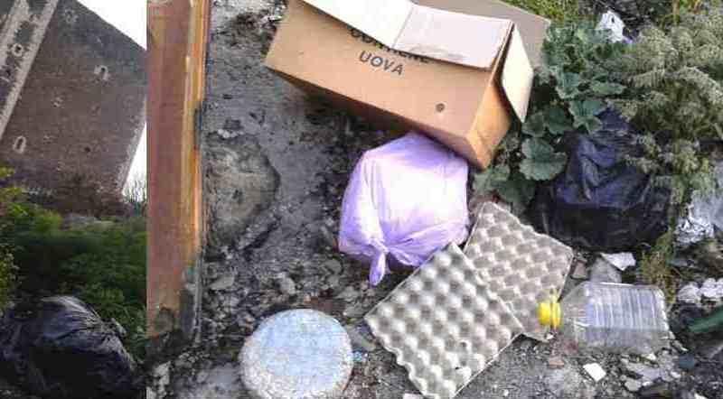 Una microdiscarica ai piedi del Castello, paternesi incivili (d'accordo): ma il sito va pulito e controllato