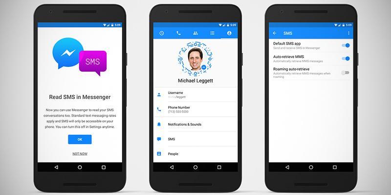 Facebook Messenger, arrivano gli SMS su Android