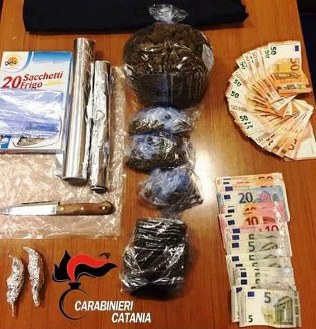 CATANIA: UN CHILO DI DROGA A CASA, ARRESTATO