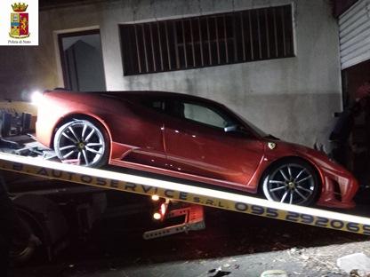 CATANIA: Ritrovata la 'Ferrari 430' sequestrata ad un radiologo che ha evaso il fisco
