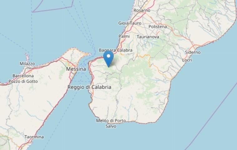 Scossa di terremoto chiaramente avvertita nella notte sullo Stretto