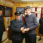 Cdt Cpl Parker receives his Instructor Cadet Lanyard