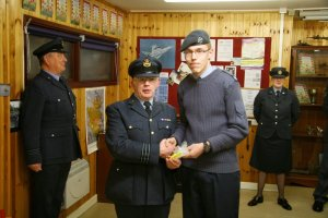 Cdt Cpl Parker receives his Instructor Cadet Lanyard