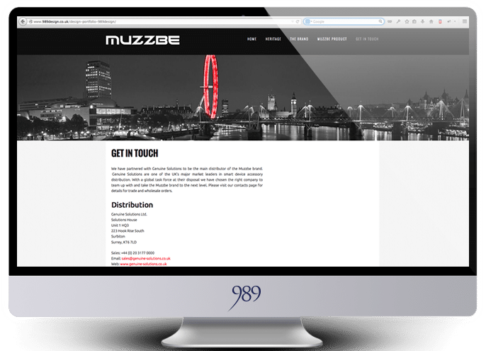 muzzbe website design weybridge surrey