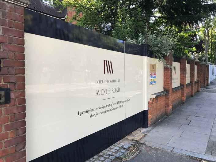 989 design bespoke printed hoarding in london