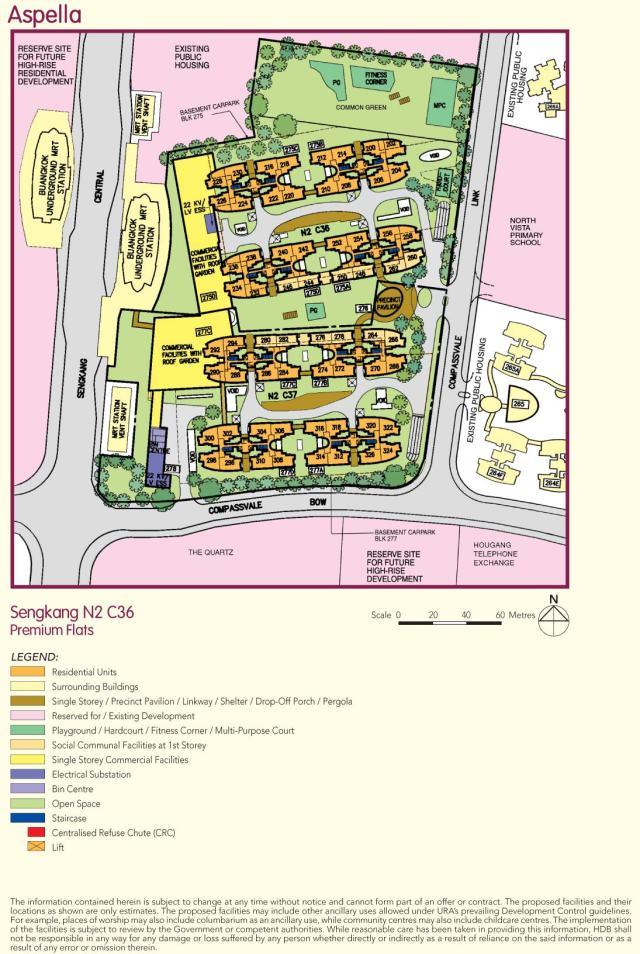 HDB BTO flats Aspella site plan