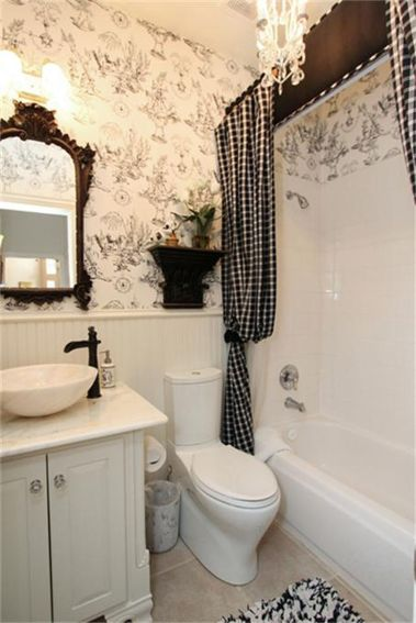 Beautiful Black And White Shower Curtains Design Ideas 09