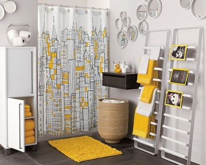 Beautiful Black And White Shower Curtains Design Ideas 12