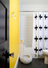 Beautiful Black And White Shower Curtains Design Ideas 47