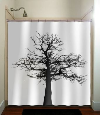 Beautiful Black And White Shower Curtains Design Ideas 52