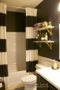 Beautiful Black And White Shower Curtains Design Ideas 57