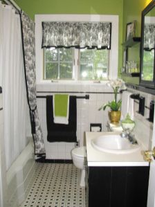 Beautiful Black And White Shower Curtains Design Ideas 58