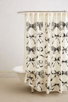 Beautiful Black And White Shower Curtains Design Ideas 97