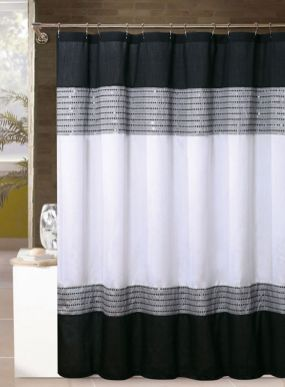 Beautiful Black And White Shower Curtains Design Ideas 99