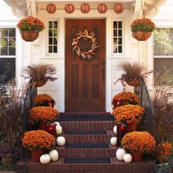 Easy But Inspiring Outdoor Fall Decoration Ideas 50