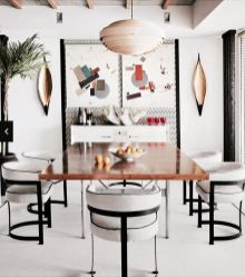 Inspiring Contemporary Style Decor Ideas For Dining Room 55