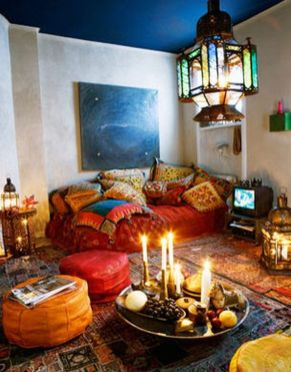 Modern Rustic Bohemian Living Room Design Ideas 17