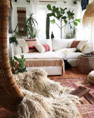 Modern Rustic Bohemian Living Room Design Ideas 51