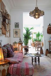 Modern Rustic Bohemian Living Room Design Ideas 56