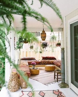 Modern Rustic Bohemian Living Room Design Ideas 60