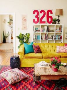 Modern Rustic Bohemian Living Room Design Ideas 62