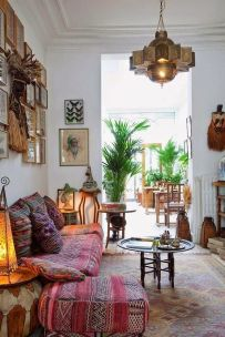 Modern Rustic Bohemian Living Room Design Ideas 63