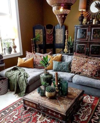 Modern Rustic Bohemian Living Room Design Ideas 79