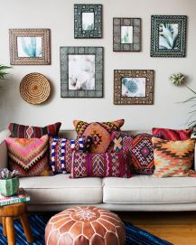 Modern Rustic Bohemian Living Room Design Ideas 80