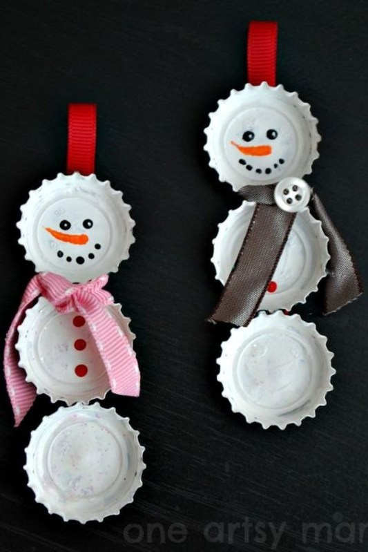 Cute And Creative Homemade Christmas Ornaments Ideas You Should Try 03