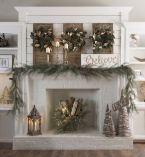 Elegant White Vintage Christmas Decoration Ideas 05