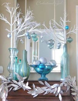 Elegant White Vintage Christmas Decoration Ideas 92