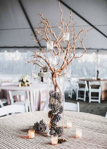 Elegant And Beautiful Tabletop Christmas Tree Centerpieces Ideas 18