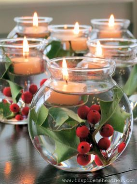 Inspiring Modern Rustic Christmas Centerpieces Ideas With Candles 19