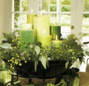 Inspiring Modern Rustic Christmas Centerpieces Ideas With Candles 24