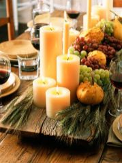 Inspiring Modern Rustic Christmas Centerpieces Ideas With Candles 49