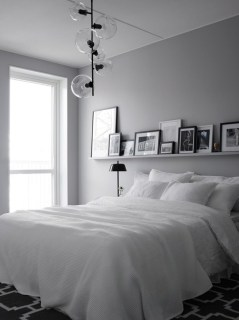 Modern And Elegant White Master Bedroom Decoration Ideas 67