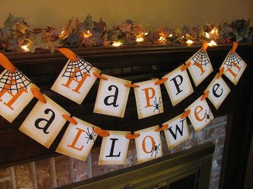 Scary But Classy Halloween Fireplace Decoration Ideas 36