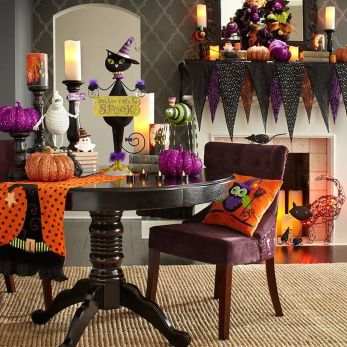 Scary But Classy Halloween Fireplace Decoration Ideas 43