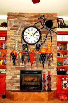Scary But Classy Halloween Fireplace Decoration Ideas 47