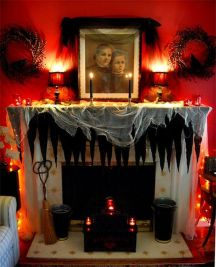 Scary But Classy Halloween Fireplace Decoration Ideas 77