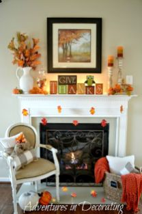 Scary But Classy Halloween Fireplace Decoration Ideas 94