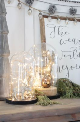 Stunning White Vintage Christmas Decoration Ideas 59